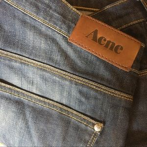 Acne Dark Wash Denim Straight Leg Jeans